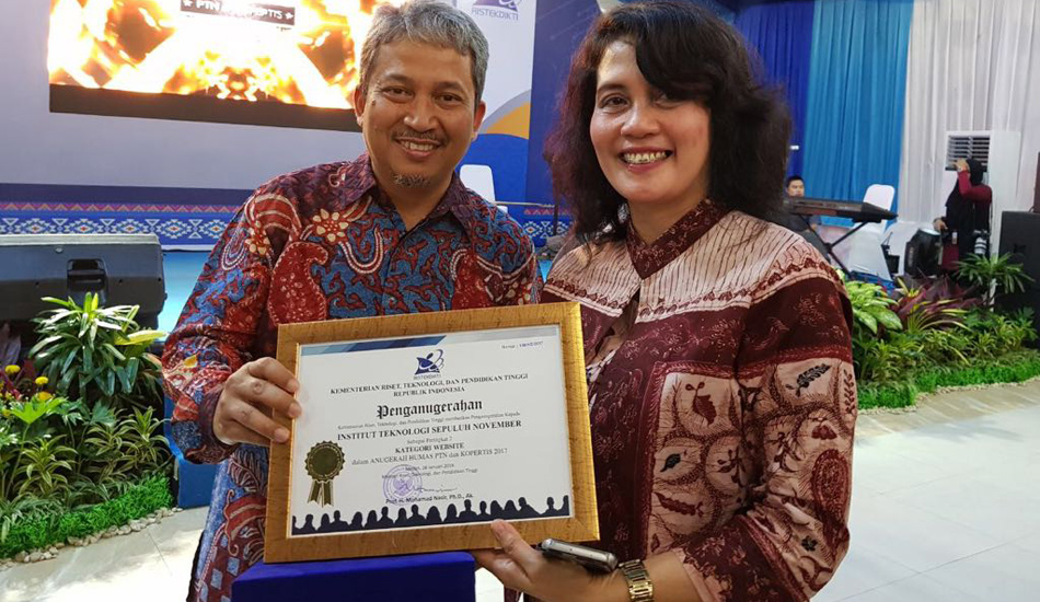 Website ITS Sabet Juara Nasional Kemeristekdikti