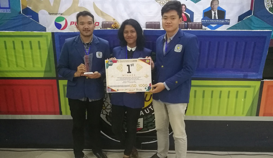 Teliti Efisiensi Tol Laut, Mahasiswa ITS Raih Juara I Industrial Engineering Fair