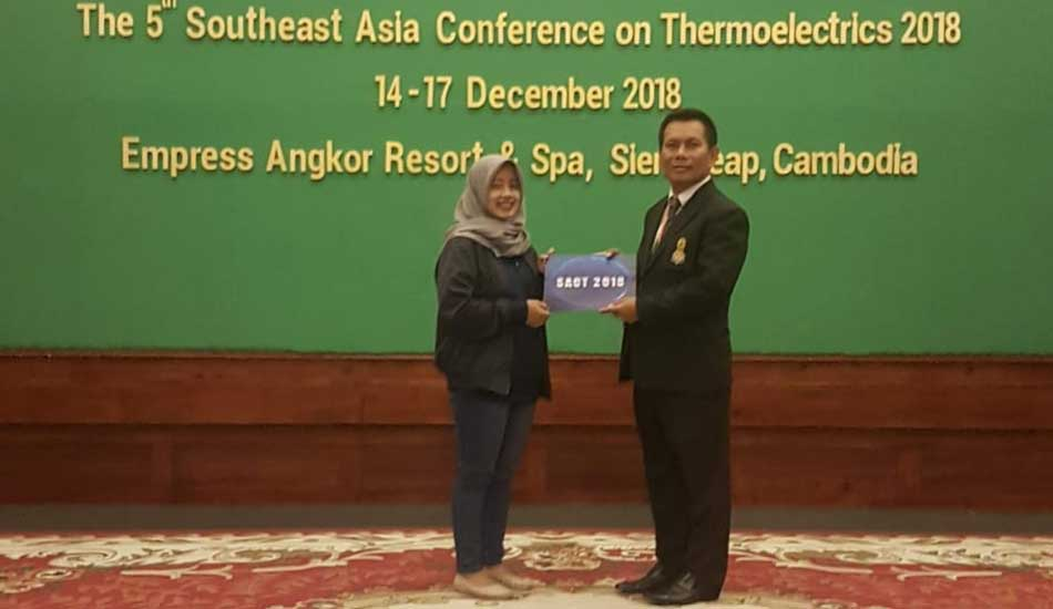 Mahasiswa ITS Penyaji Terbaik di Southeast Asia Conference on Thermoelectrics