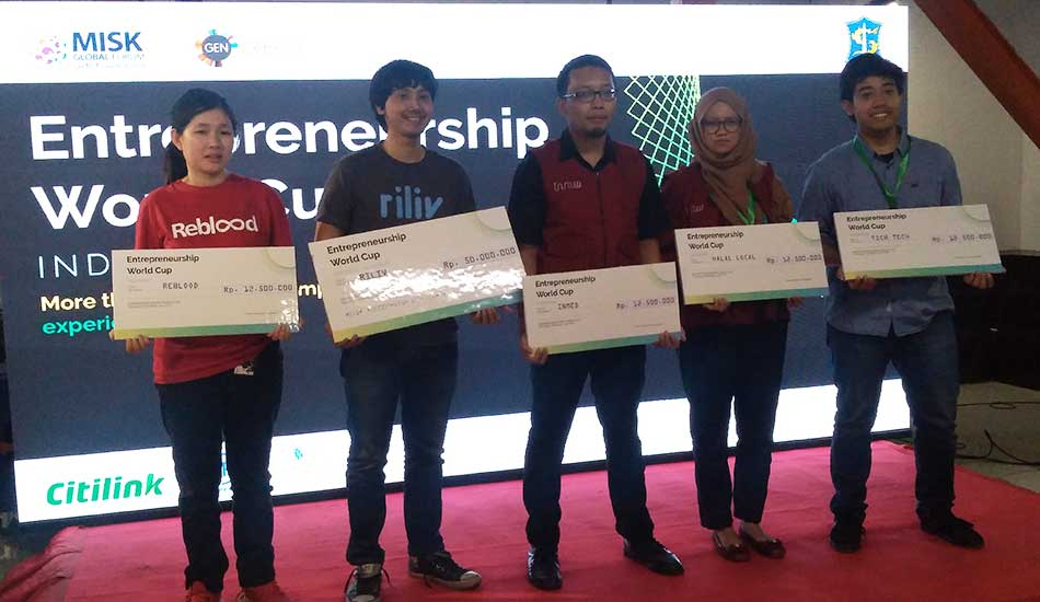 Riliv Menangi Enterpreneurship World Cup Indonesia