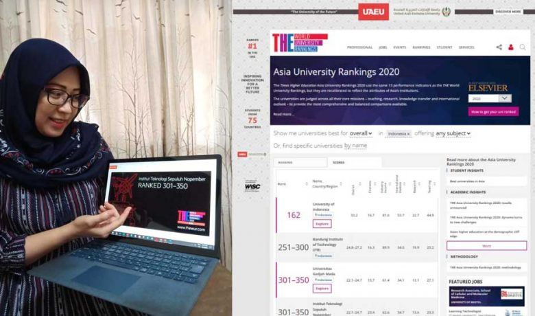 ITS Tiga Besar di Indonesia versi THE Asia University Rankings 2020